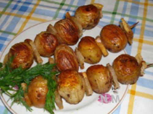 Картошка в электрошашлычнице рецепт с пошагово