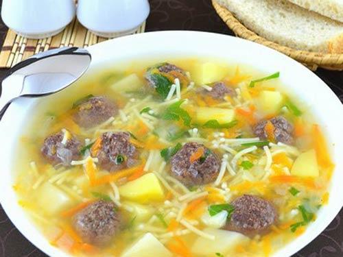 Суп с фрикадельками рецепт пошагово с вермишелью в мультиварке